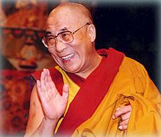 Der gegenwärtige 14. Dalai Lama ist der buddhistische Mönch Tendzin Gyatsho.