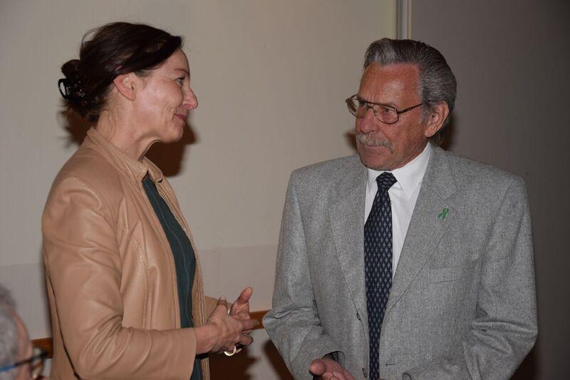 Erich Längle als Gastgeber der 31. ANÖ-Tagung im Frühjahr 2017 mit der ÖVP-Gesundheitssprecherin des Vorarlberger Landtages cANÖ/Archiv